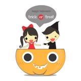 Trucco o theat di Halloween Fotografie Stock