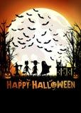 Trucco o trattare su Halloween immagine stock libera da diritti