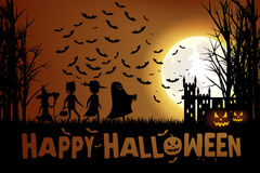 Trucco o trattare su Halloween fotografia stock libera da diritti