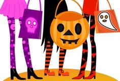 Trucco o Treaters di Halloween Fotografia Stock