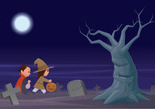 Trucco o treaters di Halloween Immagine Stock