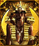 Trucco per la regina di faraone, Tan. Fotografia Stock