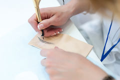 trucco permanente, studio ed abilità dei manichini di addestramento Immagine Stock Libera da Diritti