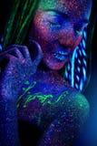 trucco ultravioletto fotografia stock libera da diritti