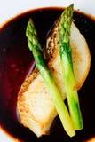 Trucha con el espárrago Fotografía de archivo libre de regalías