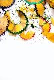 Trucioli colorati della matita Fotografia Stock Libera da Diritti