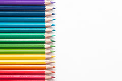 Trucioli colorati e del matita Fotografie Stock
