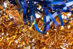 Trucioli d'acciaio colorati dopo il giro Immagini Stock