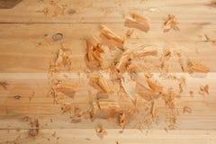 Trucioli del cedro Fotografie Stock