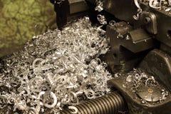 Trucioli del metallo Immagine Stock
