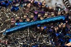 Trucioli del metallo Fotografia Stock Libera da Diritti
