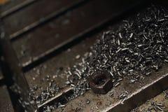 Trucioli del metallo Fotografie Stock