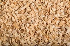 Trucioli di legno dall'aereo - fondo immagine stock