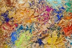 Trucioli multicolori della matita Immagini Stock