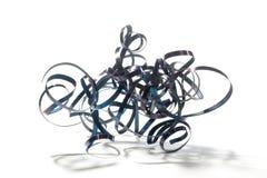Trucioli a spirale del metallo del tornio Immagini Stock Libere da Diritti