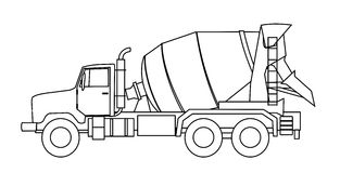 truck αναμικτών τσιμέντου Στοκ Εικόνα