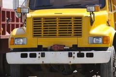 truck απορρίψεων κίτρινο Στοκ Εικόνες