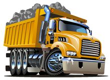 Truck απορρίψεων κινούμενων σχεδίων Στοκ φωτογραφία με δικαίωμα ελεύθερης χρήσης