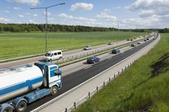 truck εθνικών οδών αυτοκινήτω&nu Στοκ φωτογραφίες με δικαίωμα ελεύθερης χρήσης