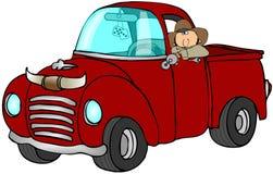 truck κάουμποϋ διανυσματική απεικόνιση