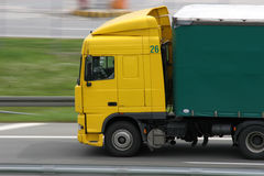 truck κίτρινο Στοκ Φωτογραφία