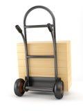 truck κιβωτίων χειραμάξιων ξύλι&n Στοκ εικόνα με δικαίωμα ελεύθερης χρήσης