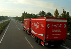 Truck κόκα κόλα Στοκ φωτογραφίες με δικαίωμα ελεύθερης χρήσης