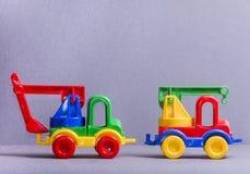 Truck παιχνιδιών τρισδιάστατα παιχνίδια απεικόνισης παιδιών Στοκ φωτογραφίες με δικαίωμα ελεύθερης χρήσης