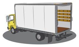 truck σχεδίων παράδοσης Στοκ εικόνες με δικαίωμα ελεύθερης χρήσης