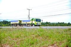 truck της οδικής Ισπανίας των Πυρηναίων βουνών Στοκ Εικόνα