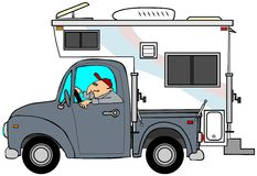 Truck & τροχόσπιτο διανυσματική απεικόνιση