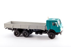 The truck. Collection scale model of the truck on a light background Stock Image