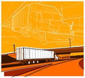 Truck 11. A large truck on the road Royalty Free Stock Photography