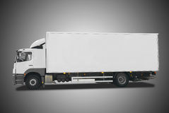 Truck. Isolated on BW background Stock Photography