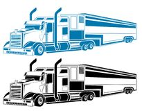 Truck. Two color big truck pattern design Royalty Free Stock Photos