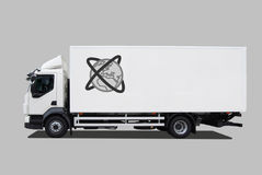 Truck. Isolated on grey background Royalty Free Stock Photography