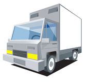 Truck. Vector delivery truck with  side mirror Stock Photos