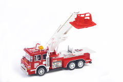 Truck. Firetruck on a white background Royalty Free Stock Photography
