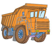 Truck. Most powerful truck to work in the quarry Royalty Free Stock Images
