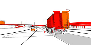 Truck 15. A large truck on the road Royalty Free Stock Photo