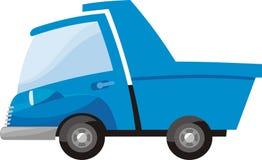 Truck. Little blue truck to transport goods royalty free illustration