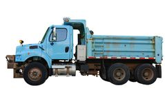 Truck. An constructing truck isolated white Royalty Free Stock Photo