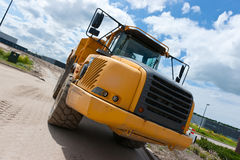 Truck. Excavation truck with loaded with sand Royalty Free Stock Images