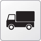 Truck. Square icon of the truck Royalty Free Stock Photos
