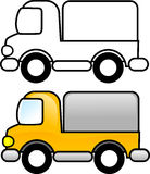 Truck. Printable coloring page for children or can be used as clip art Stock Photo