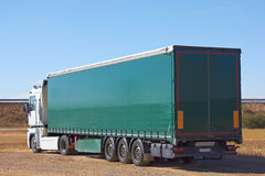 Truck. Lorry-load view from behind Stock Images