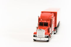 Truck. Red Truck isolated on white Royalty Free Stock Photos