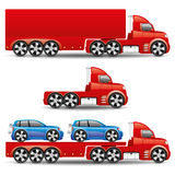 πολικό καθορισμένο διάνυσμα καρδιών κινούμενων σχεδίων truck Στοκ φωτογραφίες με δικαίωμα ελεύθερης χρήσης