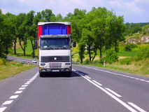 Truck. The lorry on a road Royalty Free Stock Photography