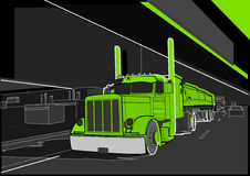 Truck 8. A large truck on the highway Royalty Free Stock Photo